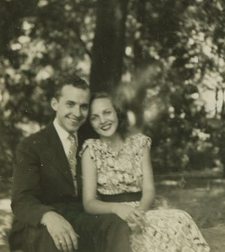 Meus pais Jack e Bernie, em 1948