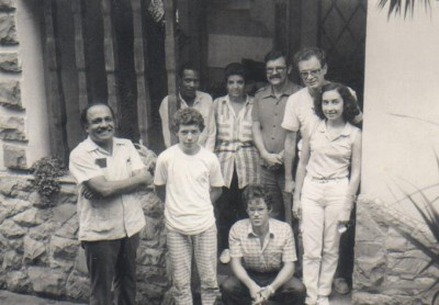 O teólogo Samuel Escobar (primeiro à esquerda) com os fundadores da ABU Editora. Crédito: ABUB