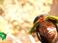 Indígena Kaiapó no Congresso do CONPLEI. Fotógrafo: Samuel. Todos os direitos reservados.