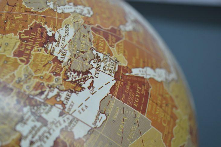 Globo na região do Oriente Médio