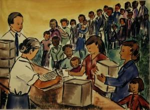 """Na história """"De onde virá o meu socorro?"""", a igreja promove consulta para identificar as necessidades da comunidade em que está inserida."""
