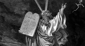 Moisés e os 10 mandamentos por G. Doré