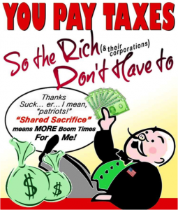 You pay the rich