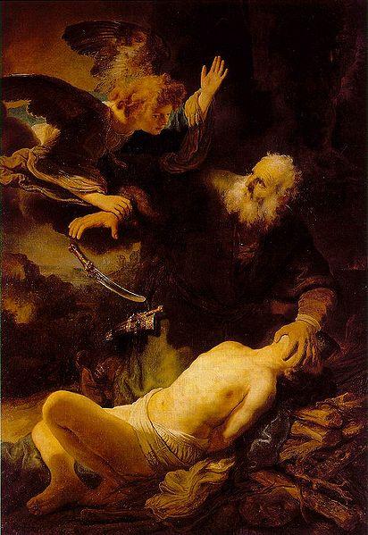O Sacrifício de Isaque, 1635. Rembrandt (1606–1669).