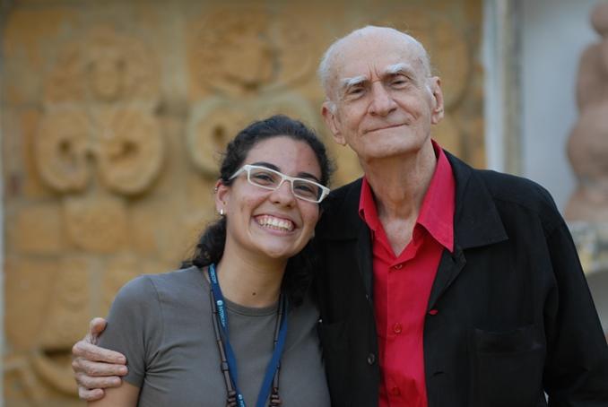 Duda Martins com Ariano Suassuna em 2010.