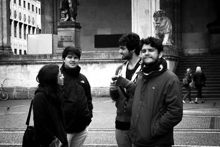 Daniel com os amigos Mateus Viegas, Nailza Bizerra e Paulo Accioly, em Monique, Alemanha.