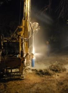 Perfuração de poços é uma das ações da ACEV. Foto: John Medcraft (ACEV).