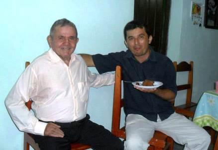 Seu Lorito (à esquerda) e Miguel (à direita)